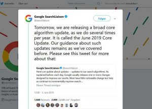 Ankündigung Google Core Update